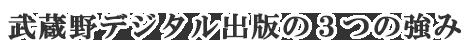 武蔵野デジタル出版の3つの強み